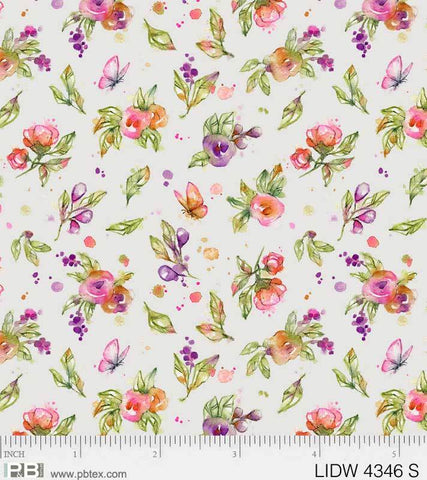 {Pre-Order November} P &  B Textiles Little Darlings Woodland Floral Blue