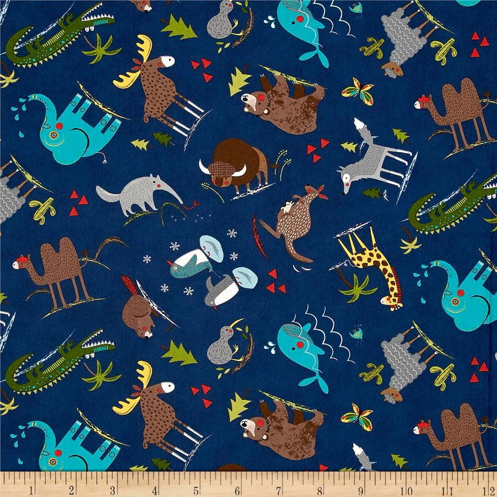 Moda Hello World Wild Things Navy