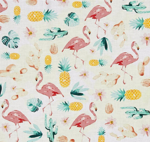 Hoffman Fabrics Summer Punch Flamingo Tea Rose