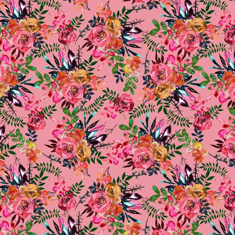 {Pre-Order November} Rathenart Designs Country Garden Blooms Country Blooms Flamingo Pink