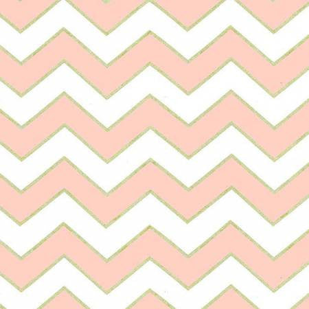 Michael Miller Glitz Chevron Blush