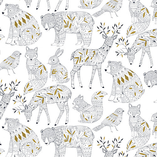 Dashwood Studios Norrland Metallic Gold White