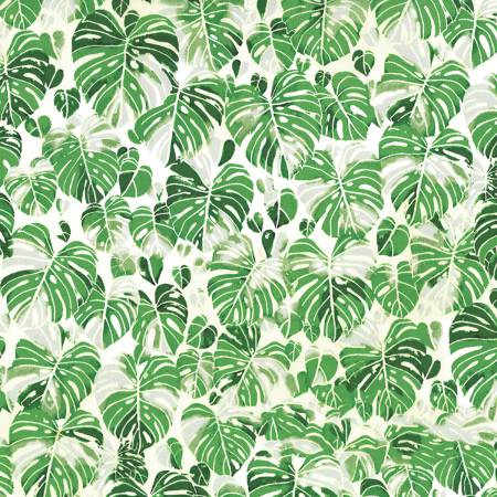 Hoffman Fabrics Summer Punch Monstera Botanical Leaves