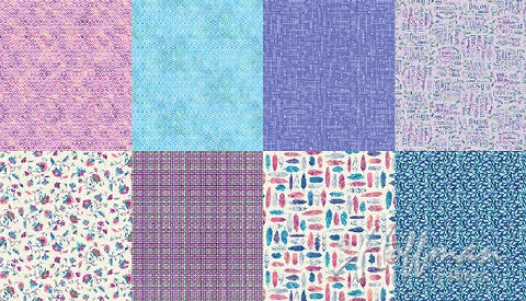 Hoffman All A Twitter Birds Fat Quarter Panel Wildberry