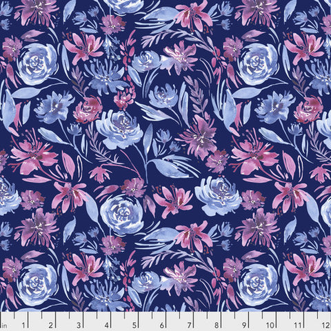 Corrine Haig Peony Pagoda Navy Floral Digitally Printed