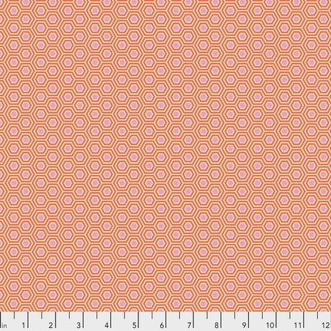 {New Arrival} Tula Pink True Colours Hexy Peach Blossom