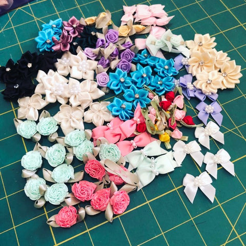 Silk Flowers & Bows Pack 2