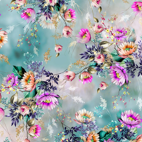 {New Arrival} Hoffman Fabrics Dragonfly Dream Petal Floral Digitally Printed