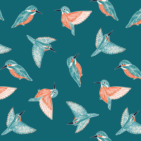 {New Arrival} Dashwood Studios Rivelin Valley Kingfishers Teal