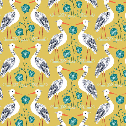 Dashwood Studios Rivelin Valley Herons Mustard