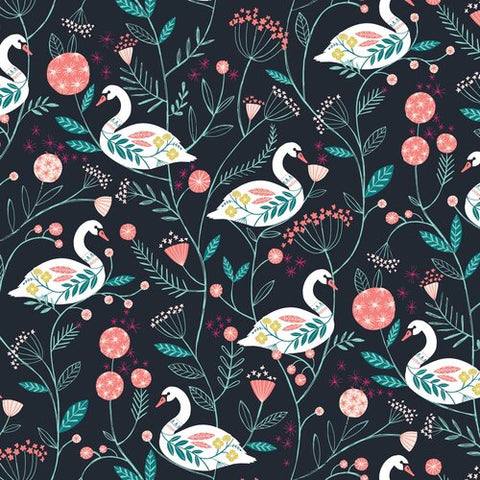 Dashwood Studios Rivelin Valley Swans Black