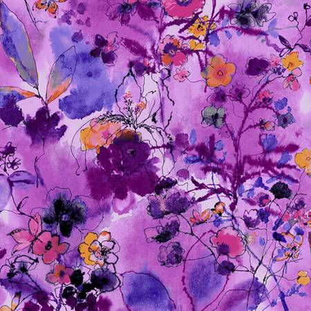 {New Arrival} RJR Bloom Bloom Butterfly Wild Meadow - Orchid Fabric