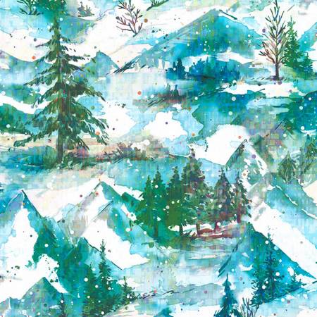 RJR Pineview Digital Winter Holiday-Frost Digiprint Fabric