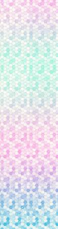 {New Arrival} Hoffman Fabrics Backsplash Digital Pastel Honeycomb Ombre Digital Panel