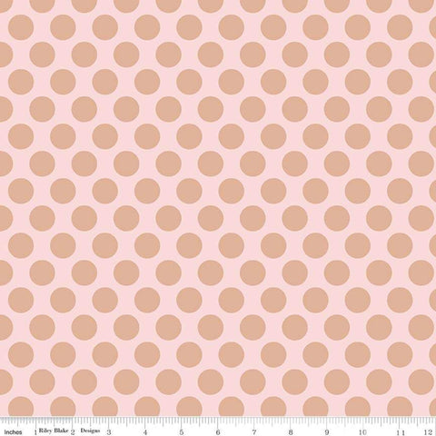 Riley Blake Glam Girl Dots Pink Sparkle Metallic