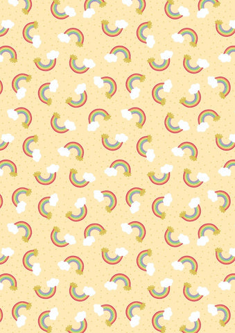 Lewis & Irene Small Things Rainbows in Yellow- Gold Metallic