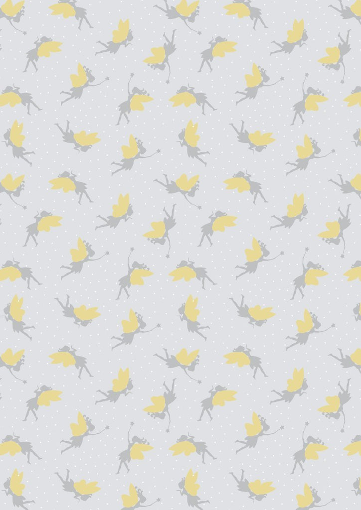 Lewis & Irene Small Things Fairies in Light Silver- Gold Metallic