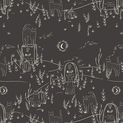 {New Arrival} Art Gallery Fabrics Spooky 'n Sweet Purranormal Activity