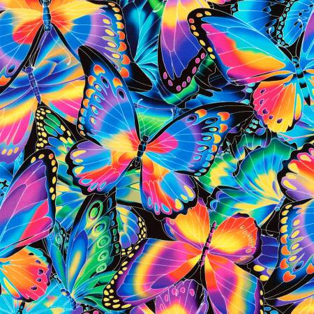 Robert Kaufman Nature Studies Multi Butterflies