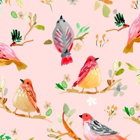 Dear Stella Daybreak Blush Birds on Branches