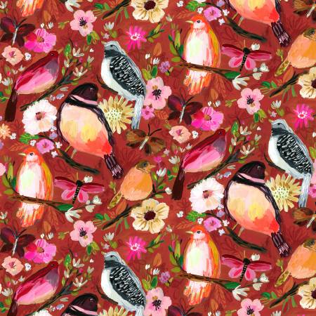 {New Arrival} Dear Stella August Wren Collection Falling For You Multi Moody Birds