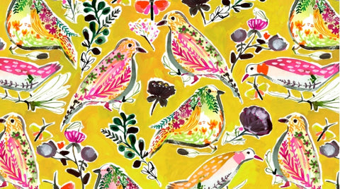 Dear Stella August Wren Collection Spice Things Up Multi Harvest Birds