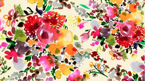 Dear Stella August Wren Collection Spice Things Up Floral Bouquets Multi