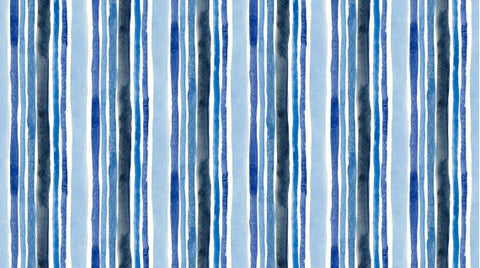 Dear Stella August Wren Collection Blue Crush Multi Blue Stripe