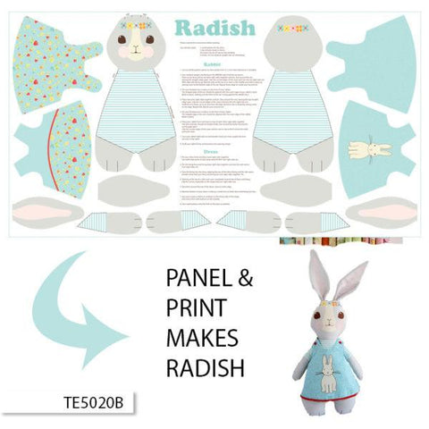 Ella Blue Bunny Trail Panel in Blue