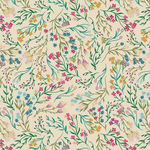 {New Arrival} Art Gallery Fabrics The Flower Society Windswept Illuminated