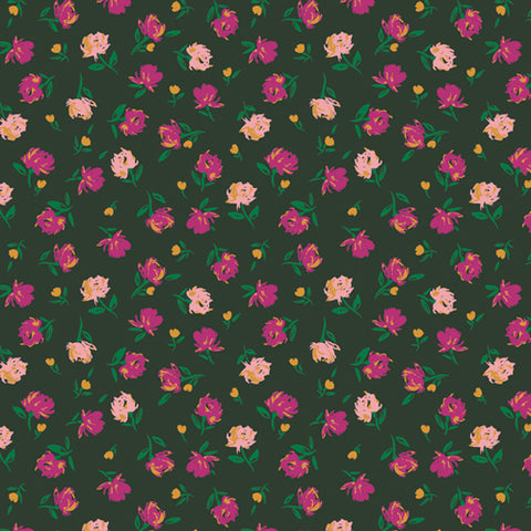 {New Arrival} Art Gallery Fabrics The Flower Society Gentle Rosebuds Lunar