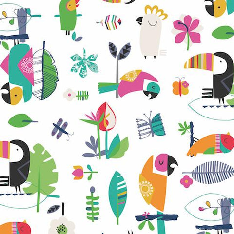 Dashwood Studios Club Tropicana Main Birds on White