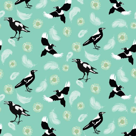 {New Arrival} Amanda Joy Designs Kookaburra Calling Magpie Song Green