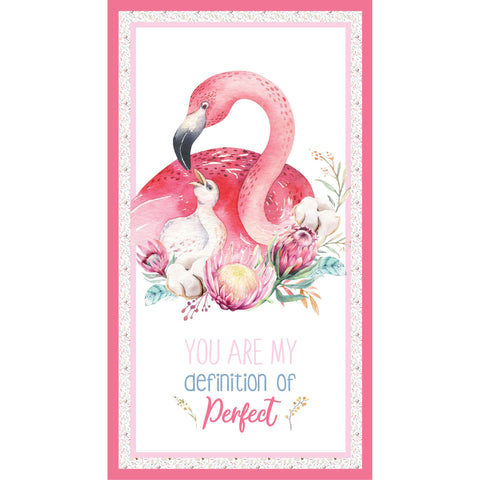 {New Arrival} Devonstone A Mother's Love Flamingo Panel