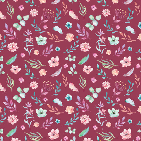 {New Arrival} Devonstone A Magical Time Floral Burgundy