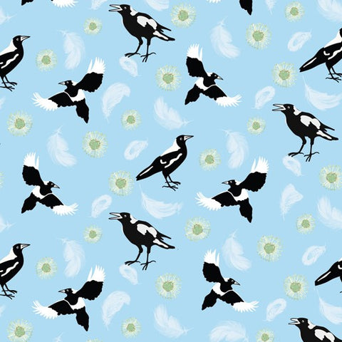 {New Arrival} Amanda Joy Designs Kookaburra Calling Magpie Song Blue