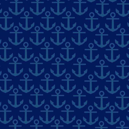 Clothworks Nautical Treasure Anchors in Navy