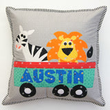 Sew Along Zoo Train Cushion Set Pattern