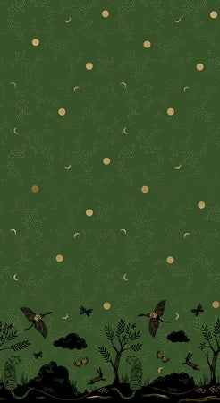 {New Arrival} Moda Ruby Star Society Tiger Fly Chrysalis Border Print Sarah Green