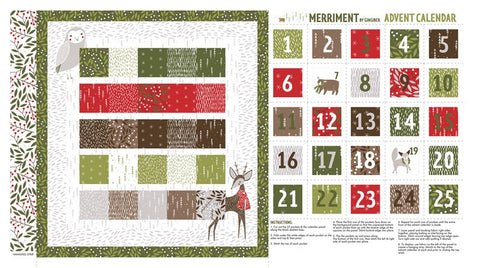 Moda Gingiger Merriment Advent Calendar Panel Multi