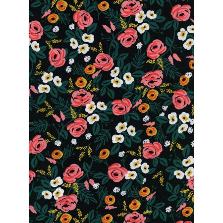 Cotton & Steel Rifle Paper Co Wonderland RAYON Painted Rose
