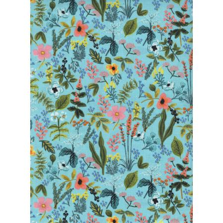 Cotton & Steel Rifle Paper Co Amalfi Herb Garden Aqua