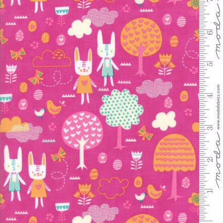 Moda Spring Bunny Fun Main in Petunia