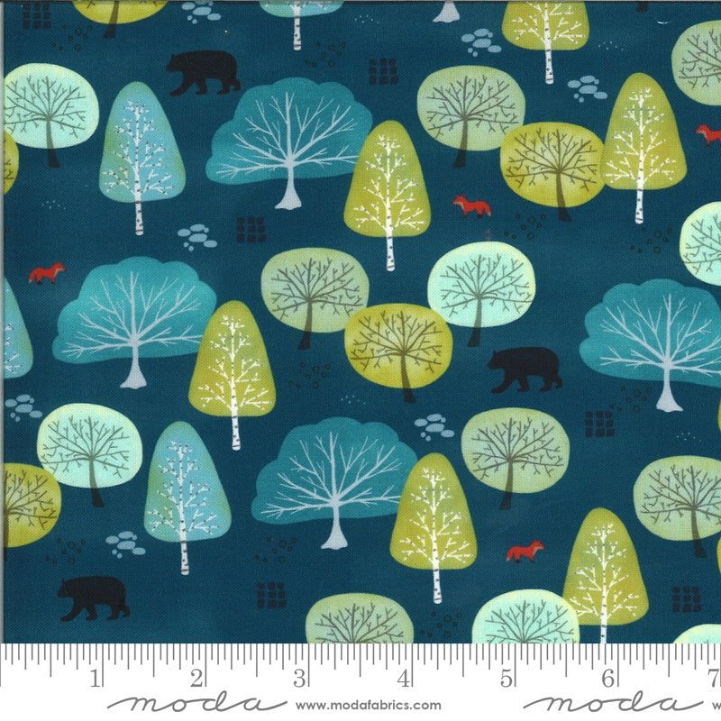 {Pre-Order April} Moda Lakeside Story Fox Forest Sailcloth