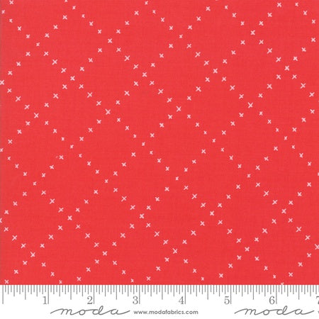 Moda Gingiber Farm Charm Lattice Red