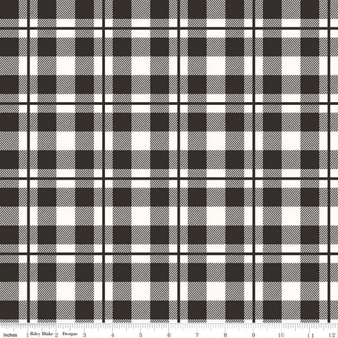 Riley Blake Yes Please Plaid in Black