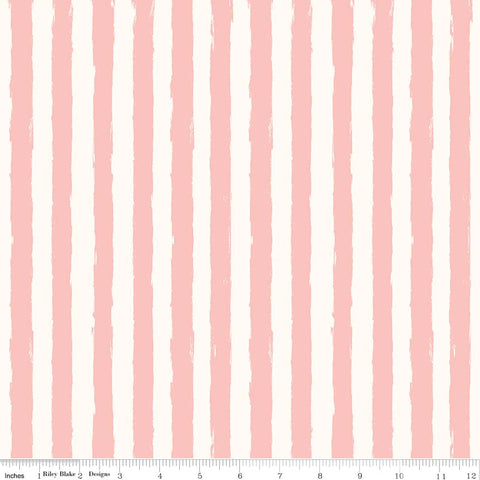 Riley Blake Blush Stripe Cream