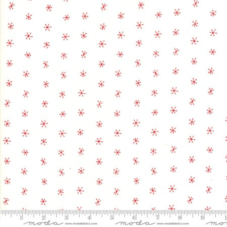 Moda Gingiger Merriment Snowflakes Berry/White