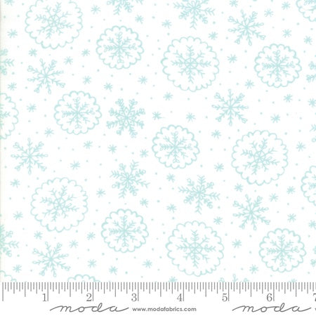 Moda Stacy Iest Hsu Snow Day Let It Snow Snowflake Aqua
