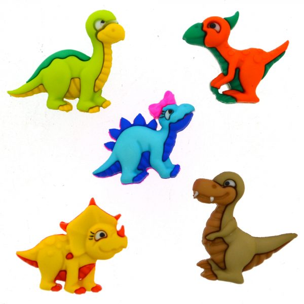Dress it up Buttons Dino-Mite